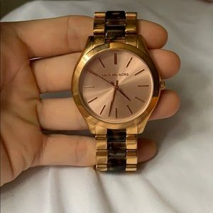 Michael Kors 3 Hand rose gold watch